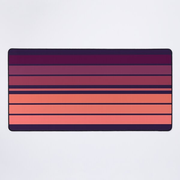 Pink World Stripes  Desk Mat