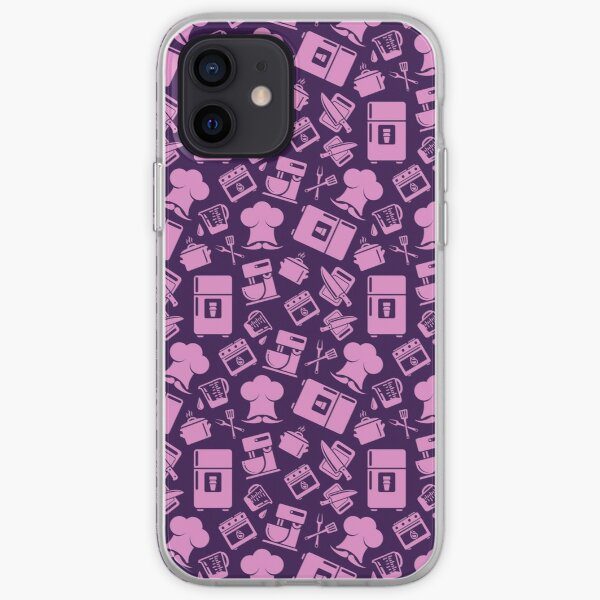 Pink Cooking Pattern iPhone Soft Case