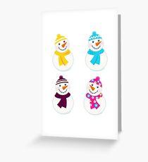 New designer cartoon Snowmens / Christmas 2016 Greeting Card
