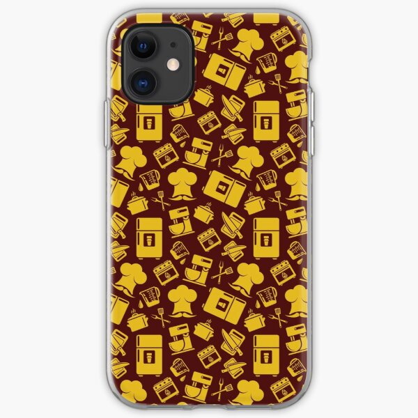 Orange Cooking Pattern iPhone Soft Case