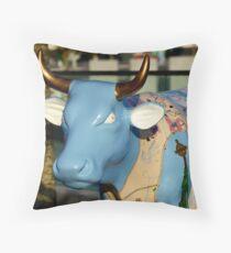Cow Parade - Shirt Factory Horn, Derry Throw Pillow