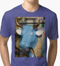 Cow Parade - Shirt Factory Horn, Derry Tri-blend T-Shirt