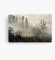 A misty autumn morning Canvas Print