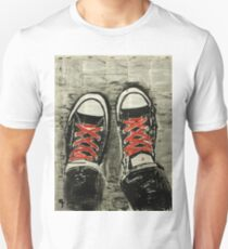 Red laces. T-Shirt