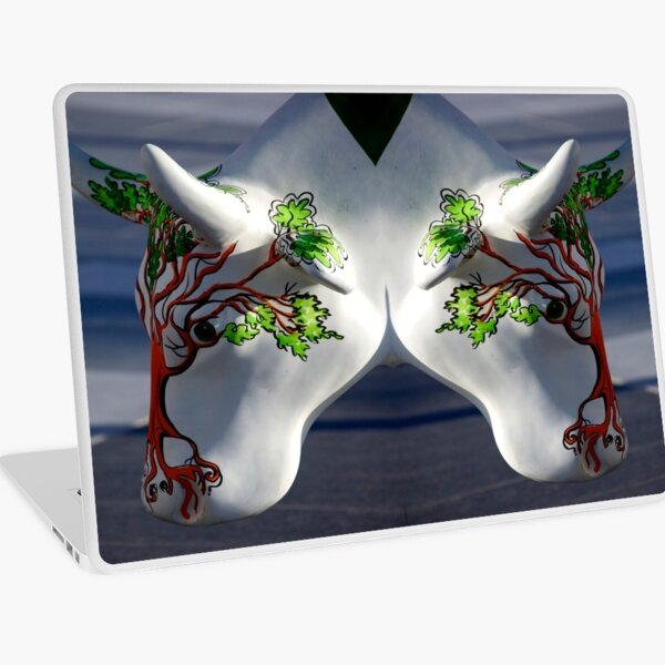 Cow with tree, Ebrington, Derry Laptop Skin