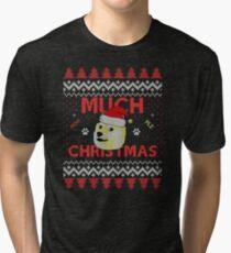 Much Christmas - Doge Meme Tri-blend T-Shirt