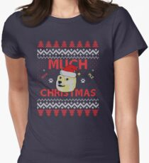 Much Christmas - Doge Meme Women's Fitted T-Shirt