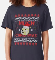 Much Christmas - Doge Meme Slim Fit T-Shirt