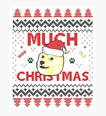 Much Christmas - Doge Meme Photographic Print