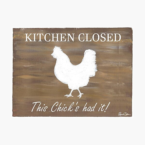 Kitchen Closed Photographic Print