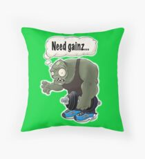 Workout Zombie, Need Gainz... Throw Pillow