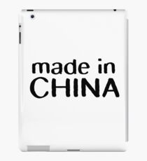made in china chinese cool funny t shirts iPad Case/Skin