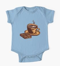 cup of coffee with chocolate One Piece - Short Sleeve