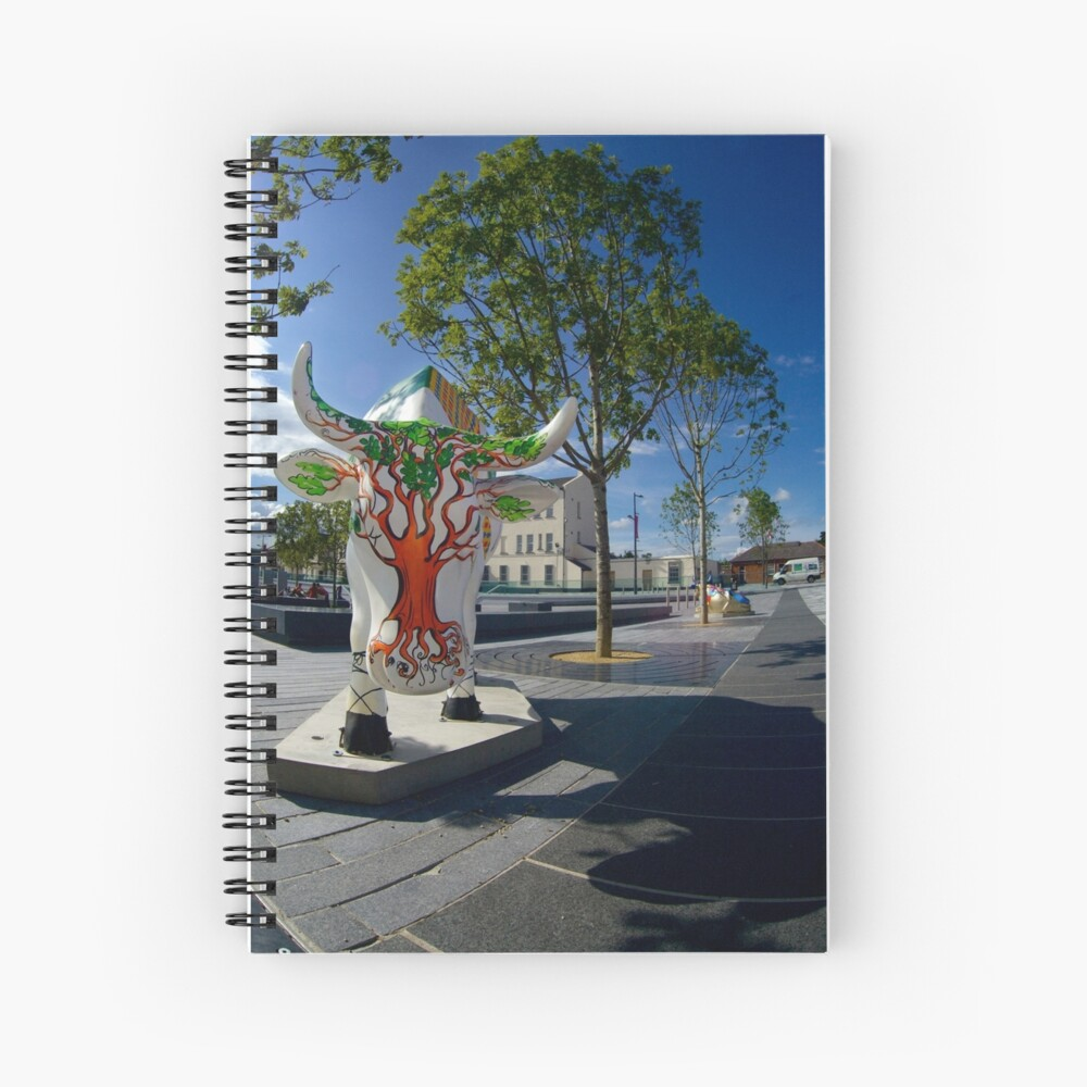 Cows and Trees, Ebrington Square, Derry Spiral Notebook