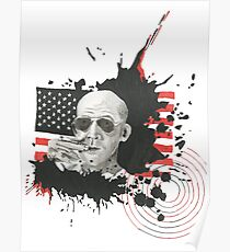 Homage To Hunter S Thompson Poster
