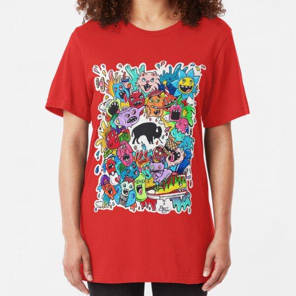 "Bizon Customs - ""Beautiful Mind"" Shirts and Hoodies Slim Fit T-Shirt"