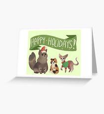 Holiday Cats! Greeting Card
