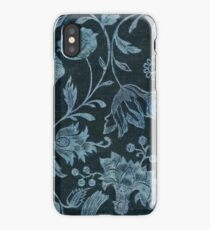 Blue Vintage Floral iPhone Case