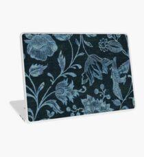 Blue Vintage Floral Laptop Skin