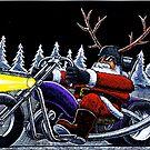 Hells Angel Santa by MarkHackett