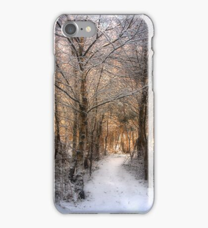 Deer Path in the Snow iPhone Case/Skin