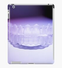 Invisible dental teeth brackets tooth aligners plastic braces retainers to straighten teeth iPad Case/Skin