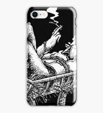 Elf in a manger iPhone Case/Skin