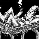 Elf in a manger by MarkHackett