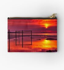 """""""Red Morning At Fisherman's Beach"""" Studio Pouch"""