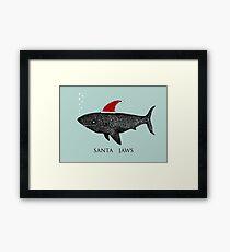 Santa Jaws Framed Print