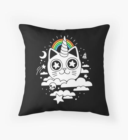 This Is Your Cat On Catnip Throw Pillow