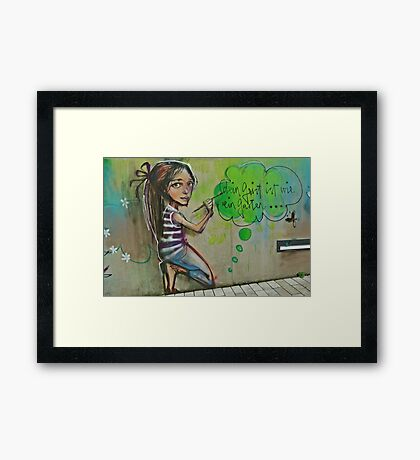 Your mind is like a garden Framed Print