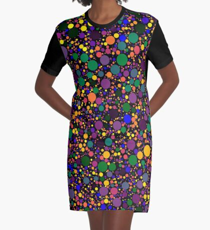 Circle Packing 002 Graphic T-Shirt Dress