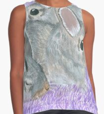 Baby Cottontail Rabbits Contrast Tank