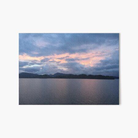 Costa Rica sunset Art Board Print