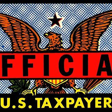 Calcomanía oficial de los contribuyentes estadounidenses de hilda74