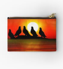 Birds at Sunset point Studio Pouch