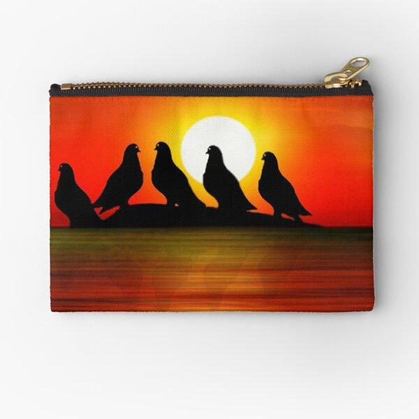 Birds at Sunset point Zipper Pouch