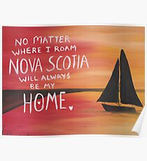 Nova Scotia Home Red Sunset  Poster