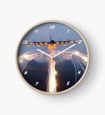 HC-130 Drops Flares Clock