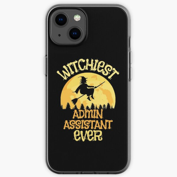 Funny Admin Assistant Witch Halloween Humor iPhone Soft Case