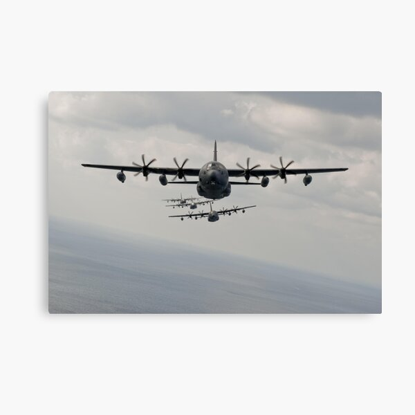 Canvas Soldiers Parachute From a Lockheed C-130 Art print POSTER