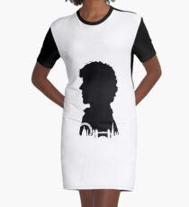 Sherlock Portrait Graphic T-Shirt Dress