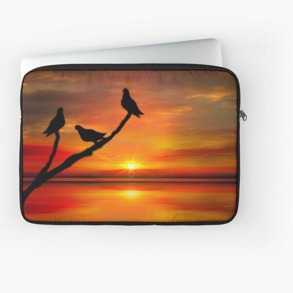 Birds at Sunset point-2 Laptop Sleeve