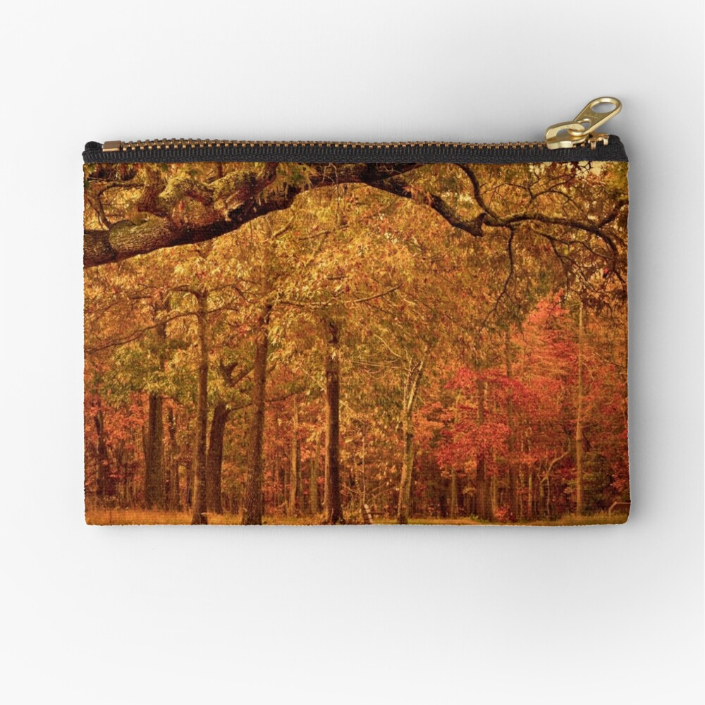 Amber Afternoon Zipper Pouch