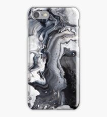 black and white marble iPhone Case/Skin