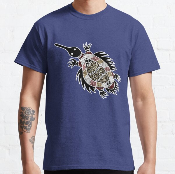 Authentic Aboriginal Art - Echidna  Classic T-Shirt
