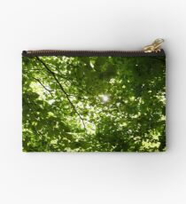 Sun light through tree branches Studio Pouch