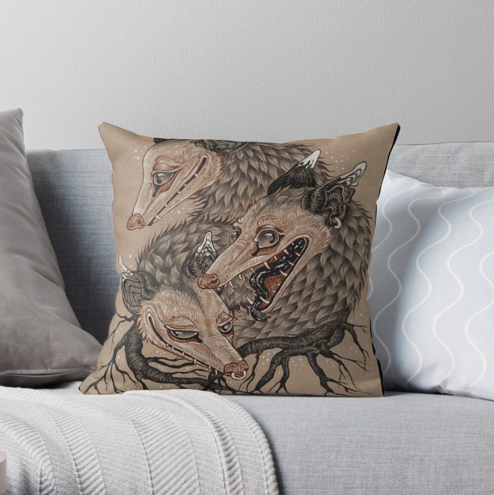 Mouths to Feed Throw Pillow