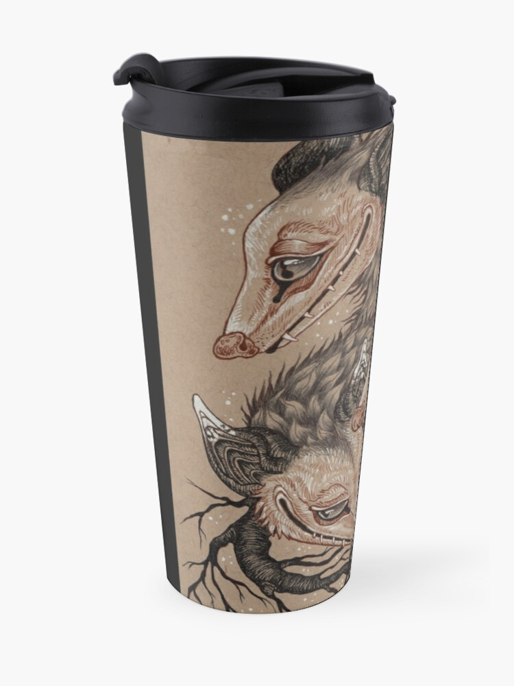 Alternate view of Mouths to Feed Travel Mug